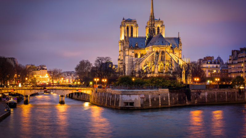 Historic Notre Dame Cathedral in Paris catches fire