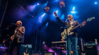 10cc's Graham Gouldman (right) and Rick Fenn, on stage at Zoo Twilights in Melbourne.