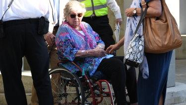 Jenny Rimmer, Jane's mother, arrives at court.