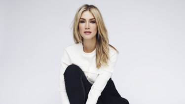 Goodrem, pictured in 2019, saw the man outside her home and heard her name being called.