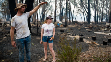 David Virdun and Bonnie Walsh on her parents property in Wingello.