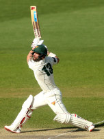 Matthew Wade in action for Tasmania.