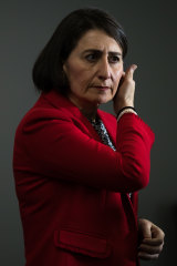 NSW Premier Gladys Berejiklian holds a press conference on Thursday.