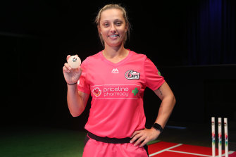 Ash Gardner poses during the WBBL season launch.
