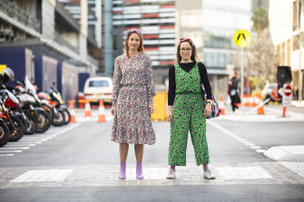 """Sydneysiders Holly Lyons (left) and Amy Stewart still love their Gorman outfits but are no longer part of the """"Gormie"""" tribe."""