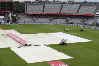Old Trafford on Monday. There is one day remaining in the Test.