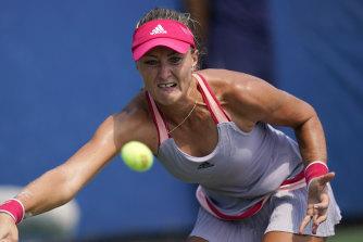 Kristina Mladenovic, of France.