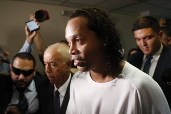 Former soccer star Ronaldinho has tested positive for COVID-19.