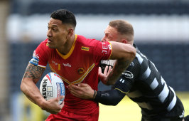 Out of my way ... Israel Folau.