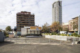 A vacant block of prime land owned by Transport for NSW on William Street in Woolloomooloo.