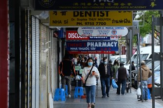 Many shops were closed on the streets of Cabramatta.