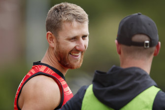 Dyson Heppell was back at training last month.