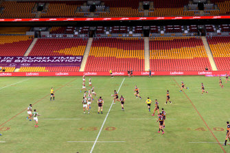Countdown to kick-off: Brisbane's Suncorp Stadium is likely to be one of several ''bubble'' venues.
