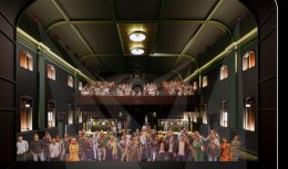 An artist's impression of the planned interior of Princess Theatre.