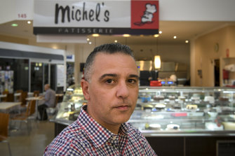 Robert Verni, former owner of a Michel's Patisseri which went broke because of how RFG operates. Photo: Eddie Jim.