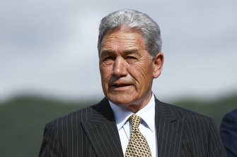 New Zealand's Deputy Prime Minister, and kingmaker, Winston Peters.