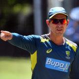 Australia's coach Justin Langer.