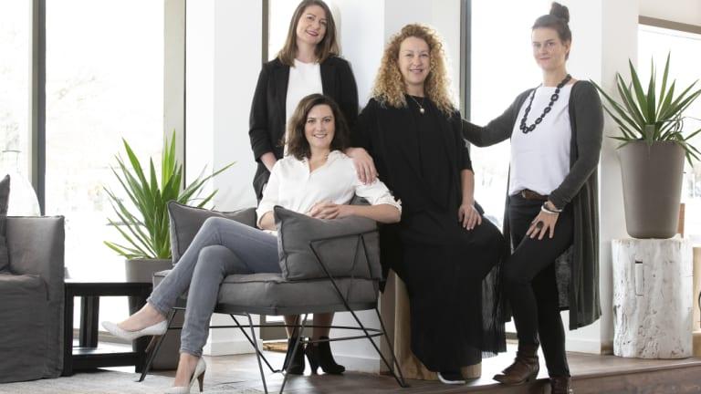Canberra creatives Kimberley Ohayon, Peita Davis, Bronwyn Blue, and Alexandra Freeman.