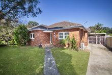The three-bedroom brick home at 380 Kingsway Caringbah, NSW, sold at auction for $1.35 million.