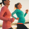 Pregnant women can train hard, but it doesn't mean they must