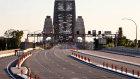 An empty Sydney Harbour Bridge during the COVID-19 shutdown.