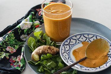 Thai peanut and lime sauce.