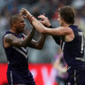 Fremantle Dockers stun Geelong to reopen battle for the top spot