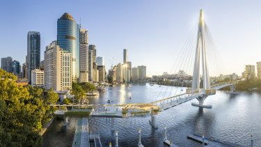 New design images of the proposed Kangaroo Point bridge have been released.