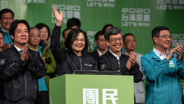 Newly re-elected Taiwan President Tsai Ing-wen.