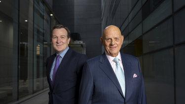 Premier Investments CEO Mark McInnes and chairman Solomon Lew