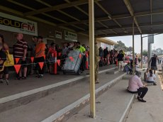 People have been queuing for hours for relief support in Bairnsdale.