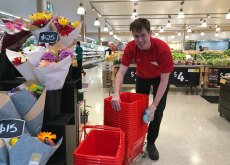 Coles junior online sales manager Jarryd Millar at Fairfield Gardens shopping centre in Fairfield, Brisbane.