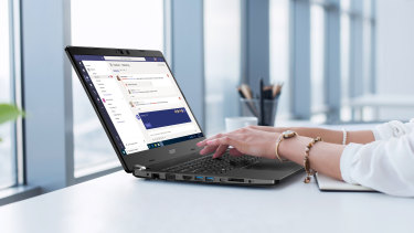 The Acer TravelMate P2's agile design is perfect for business on the go.