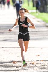 Women's race winner Linden Hall.