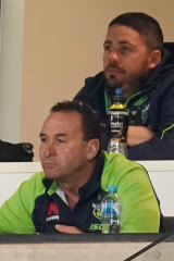 Could this be the year?: Raiders coach Ricky Stuart watches his men defeat the Storm at AAMI Park.