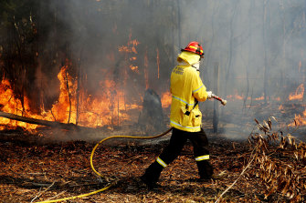 Almost 1200 firefighters are tackling large bushfires on the NSW mid-north coast among scores of blazes around the state.