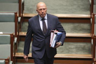 Defence Minister Peter Dutton believes Australia has been too complacent about the threat posed by China.