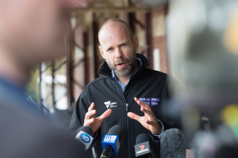 Victoria's coronavirus logistics chief, Jeroen Weimar, said he would not speculate on when the border will reopen.