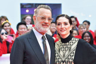 Tom Hanks and Marielle Heller attend the film's Toronto premiere.