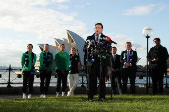 FFA chief James Johnson has described the current crop of Matildas as Australia's 'platinum generation'.