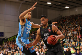 Tai Wesley, right, is a respected figure in the NBL.