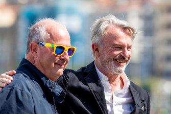 Roger Michell (left) and Sam Neill attend the <i>Blackbird</i> photocall at the 67th San Sebastian Film Festival in Spain on September 20, 2019.