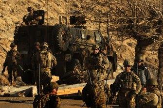 Australian soldiers on patrol in Oruzgan.
