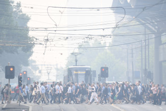 Melburnians are now having to get used to haze too.