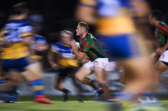 Tom Burgess led the charge for Souths on Friday night in the absence of retired brother Sam and Super League-based twin George.