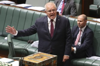 Scott Morrison told Parliament he knew of criticism of the policy to allow domestic violence victims early access to their superannuation.