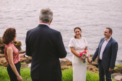 Marie-Clair Leschallas and Max Nudd were married on Saturday with only five people including them and their celebrant Melissa Soncini in attendance under new coronavirus restrictions.