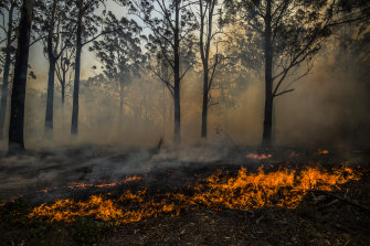 Catastrophic fire danger warnings remain in place for parts of the state.