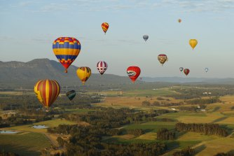 The sight of hot-air balloons is always a treat.