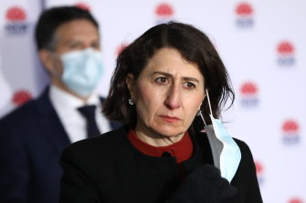 """Premier Gladys Berejiklian called for patience, saying she was """"absolutely convinced"""" the state would come out of lockdown soon."""
